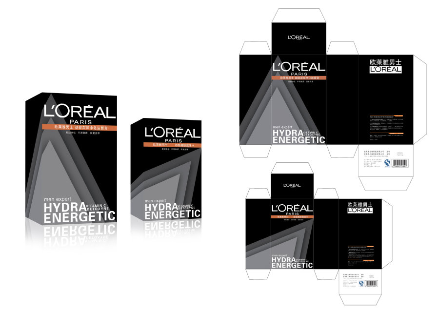 l'oreal men expert packaging