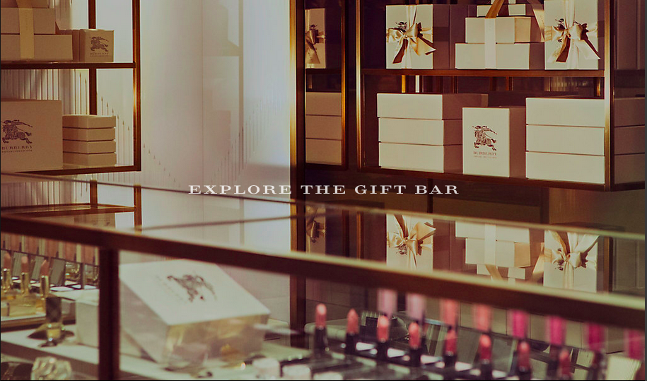 Gift bar Burberry cosmetics bar