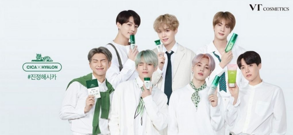 Kpop Group BTS' collaboration with VT Cosmetics